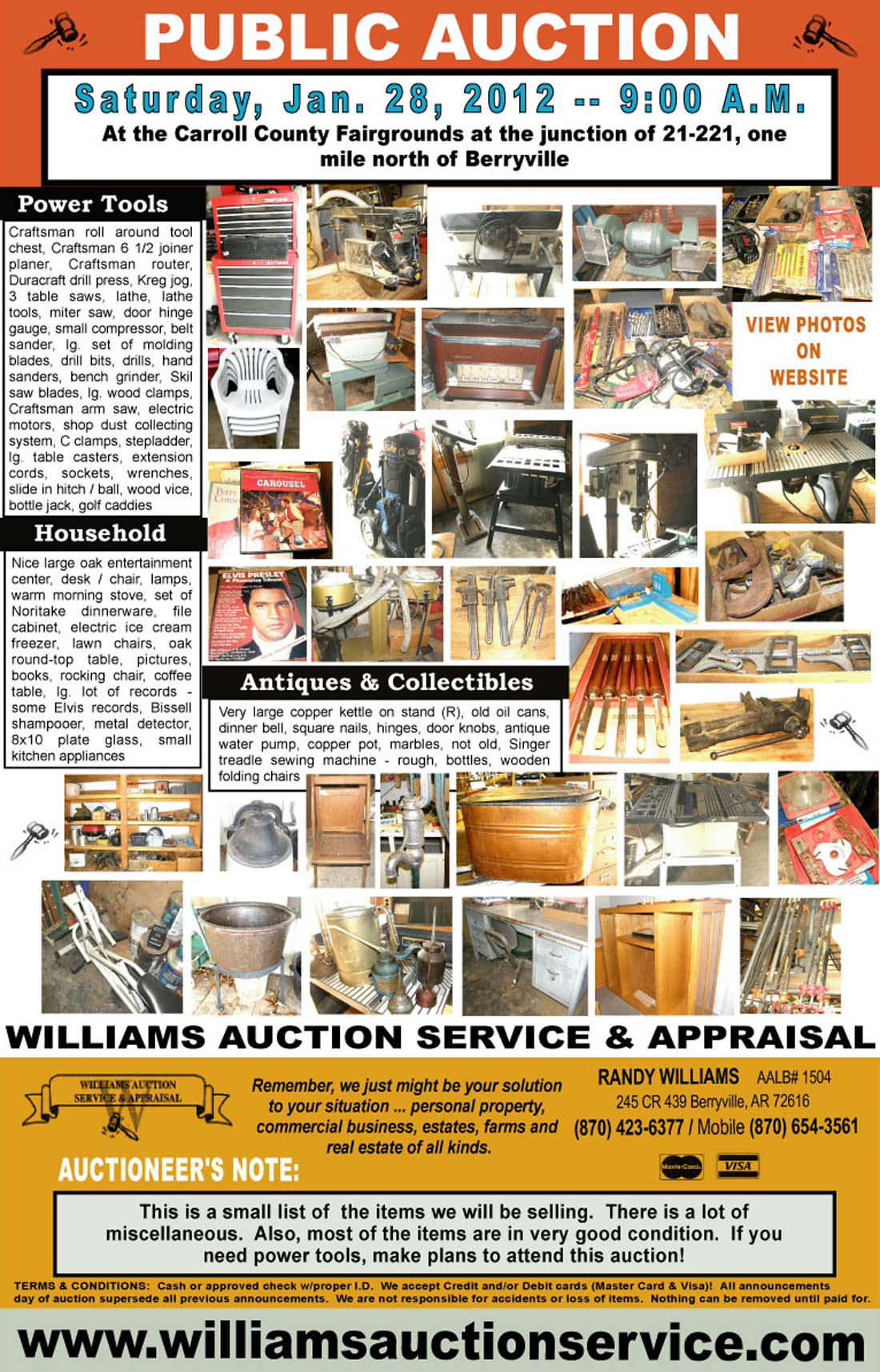 williams auction service auction january 28 2012 berryville