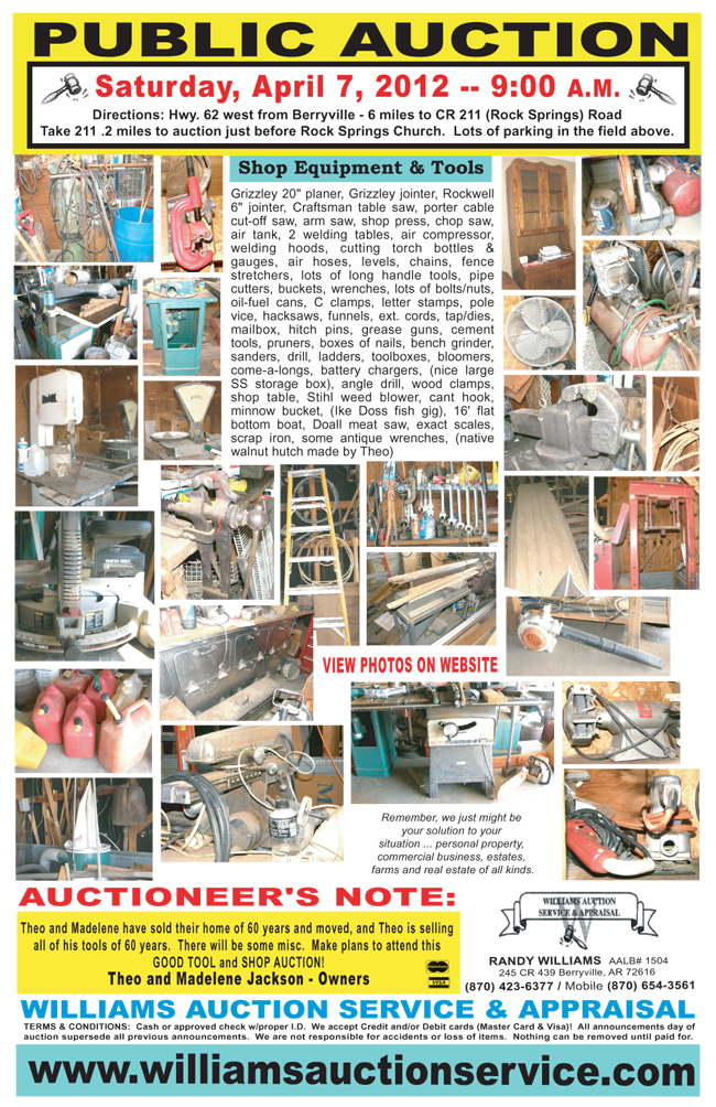 APRIL 7 AUCTION