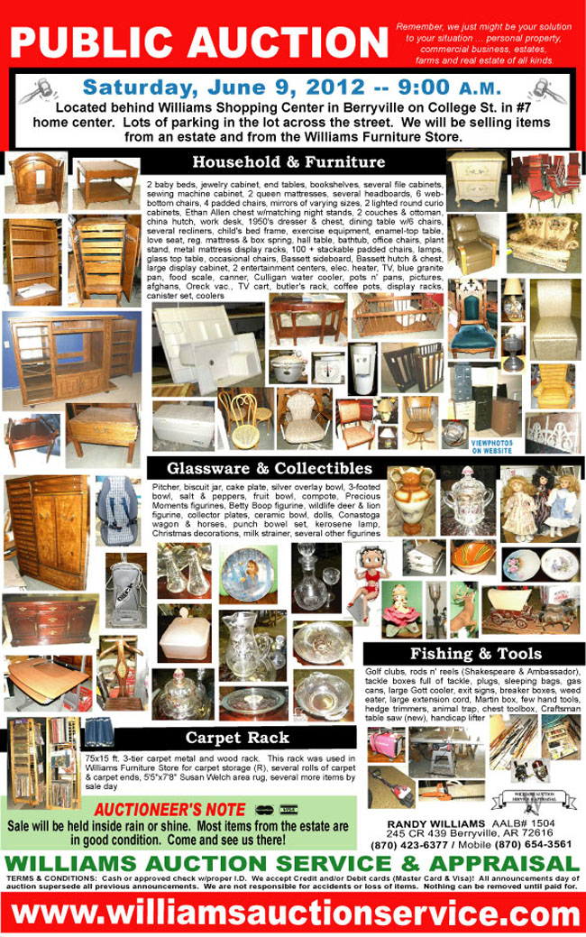 Williams Auction 2012 June 9