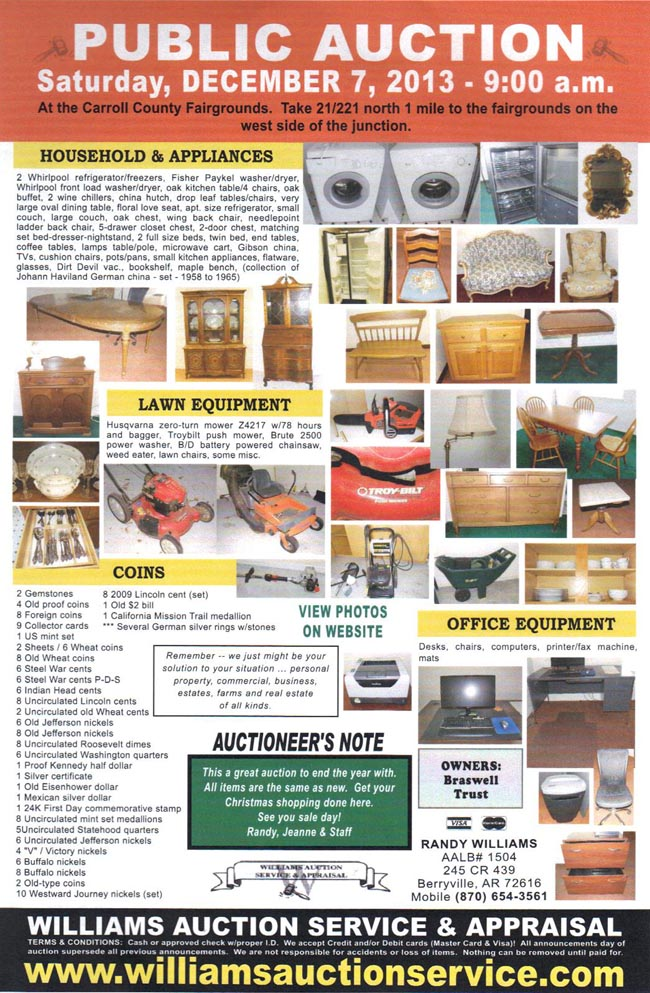 DEC 7 2013 AUCTION