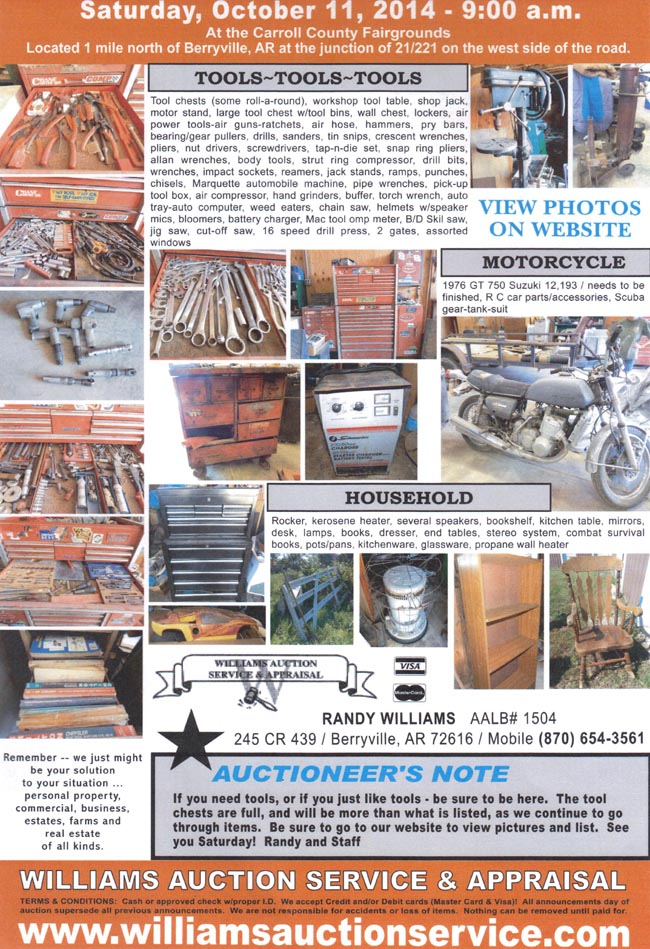 Flyer OCT 11 2014 AUCTION