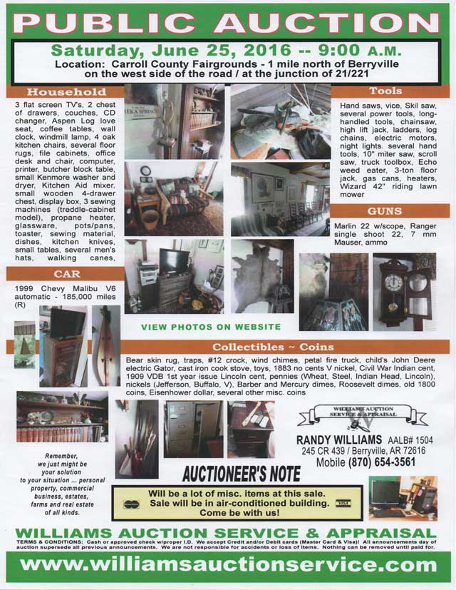 AUCTION June 25 2016